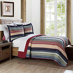 Brooklyn Loom Lake Stripe Yarn Dye Twin Quilt