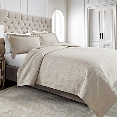 Wamsutta® Filigree Coverlet in Khaki