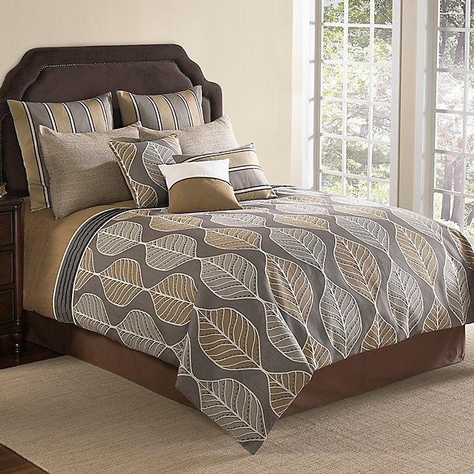 Alternate image 1 for Brenda 9-Piece Comforter Set in Brown