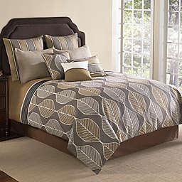 Brenda 9-Piece King Comforter Set in Brown