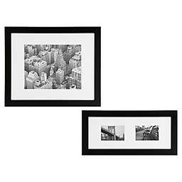 Gallery Solutions Black Wood Frame with White Mat