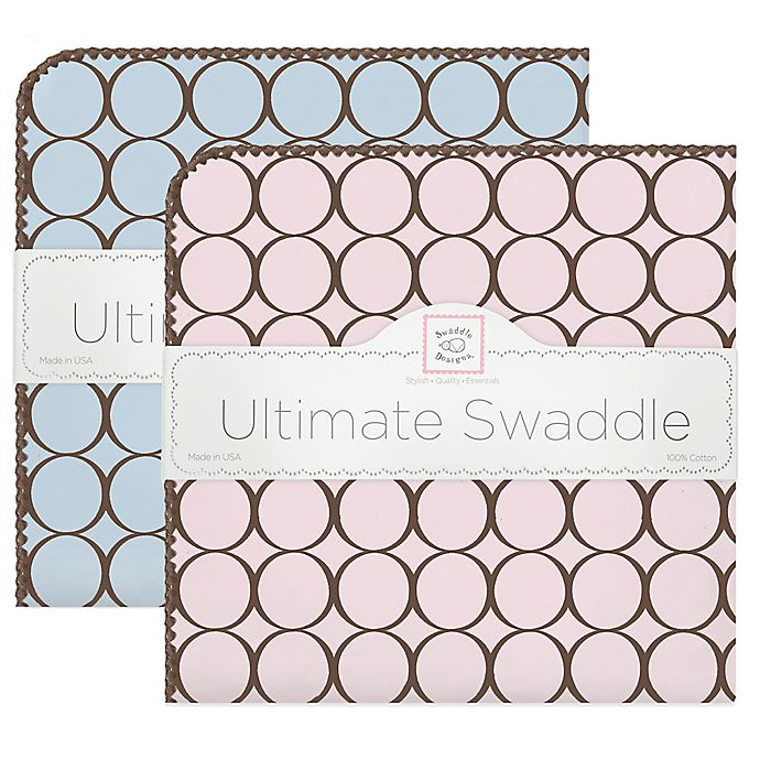 Alternate image 1 for Swaddle Designs® 100% Cotton Flannel Circle Receiving Blankets®