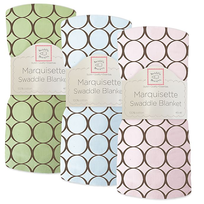 Alternate image 1 for Swaddle Designs® Circles Lightweight Marquisette Swaddling Blanket