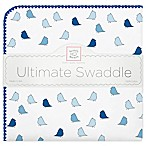 Swaddle Designs® Little Chickies Flannel Swaddling Blanket in Blue