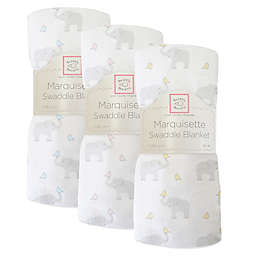 SwaddleDesigns® Elephant & Chickies Marquisette Swaddle Blanket