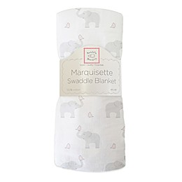 SwaddleDesigns® Elephant & Chickies Marquisette Swaddle Blanket