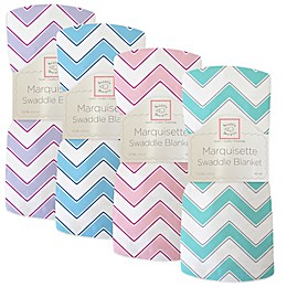 SwaddleDesigns® Chevron Marquisette Swaddle Blanket