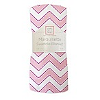 SwaddleDesigns® Chevron Marquisette Swaddle Blanket in Pink
