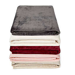 Simply Essential™ Plush Solid Throw Blanket