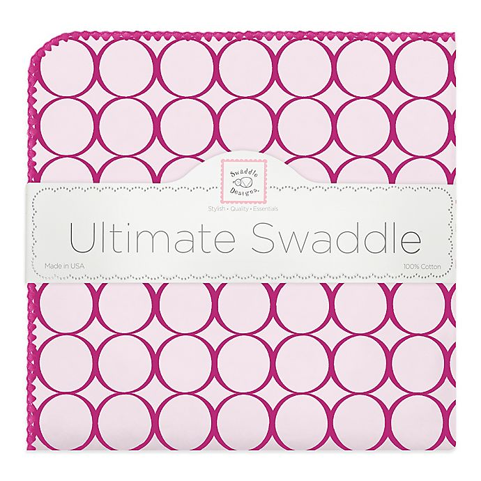 Alternate image 1 for Swaddle Designs® Mod Circles Ultimate Swaddle in Berry Red
