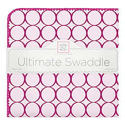Swaddle Designs® Mod Circles Ultimate Swaddle in Berry Red