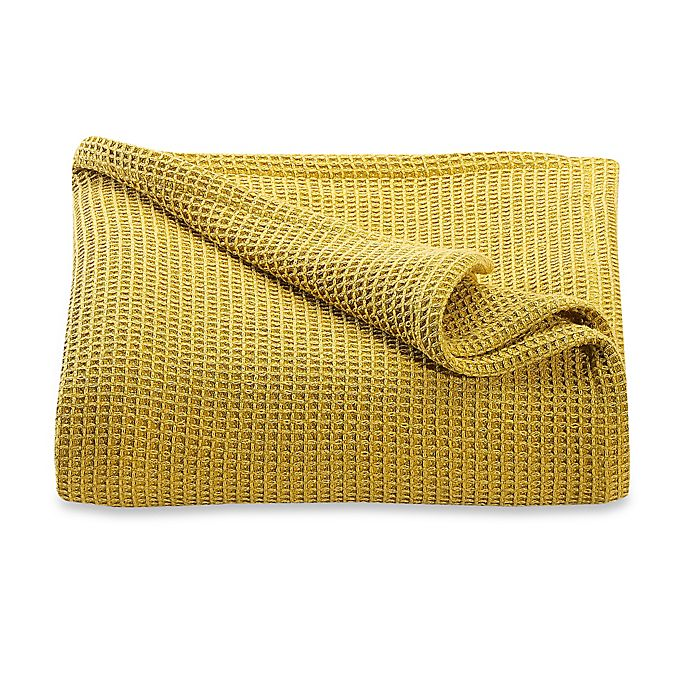 Alternate image 1 for Kenneth Cole Reaction Home Waffle King Blanket in Mustard