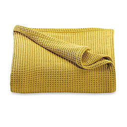Kenneth Cole Reaction Home Waffle King Blanket in Mustard