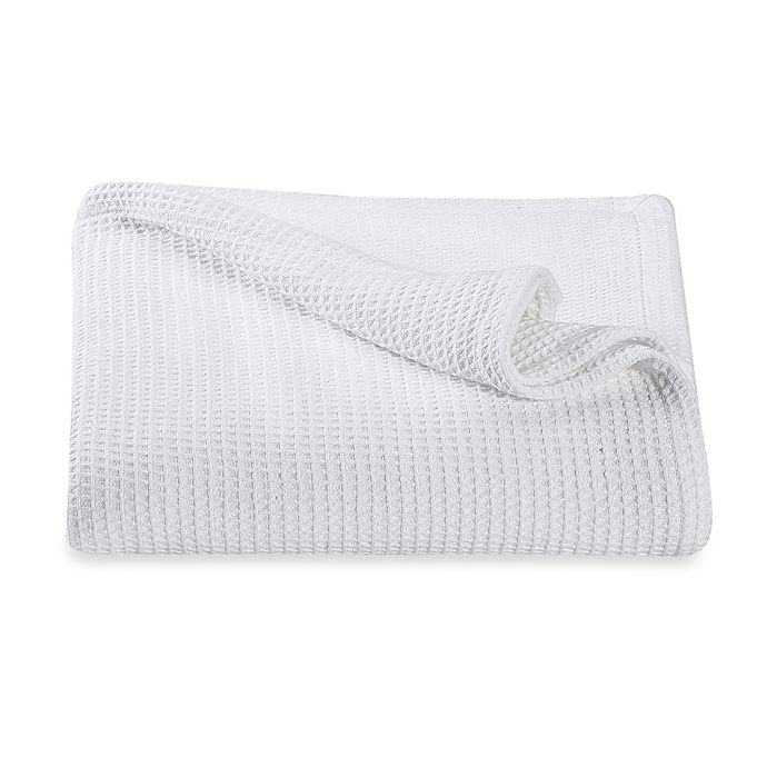 Alternate image 1 for Kenneth Cole Reaction Home Waffle King Blanket in White