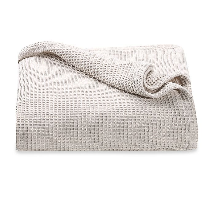 Alternate image 1 for Kenneth Cole Reaction Home Waffle Twin Blanket in Ivory