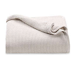 Kenneth Cole Reaction Home Waffle King Blanket in Ivory