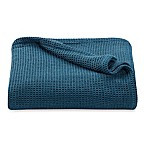 Kenneth Cole Reaction Home Waffle Twin Blanket in Teal
