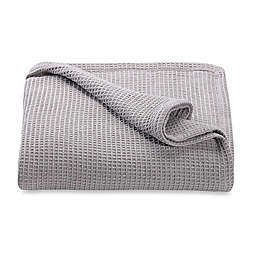 Kenneth Cole Reaction Home Waffle Twin Blanket in Silver