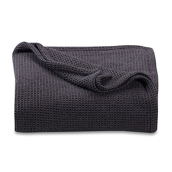 Alternate image 1 for Kenneth Cole Reaction Home Waffle Full/Queen Blanket in Black