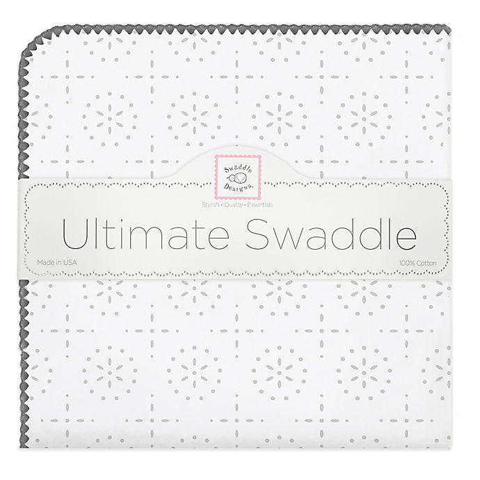 Alternate image 1 for Swaddle Designs® Sterling Sparklers Flannel Swaddling Blanket