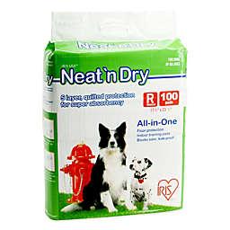 IRIS® Neat 'n Dry™ 100-Pack Medium Floor Protection and Training Pads