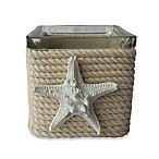 Rope Wrapped Glass Tealight Holder with Starfish