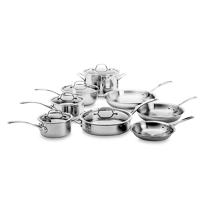Alternate image 1 for Calphalon® Tri-Ply Stainless Steel 13-Piece Cookware Set