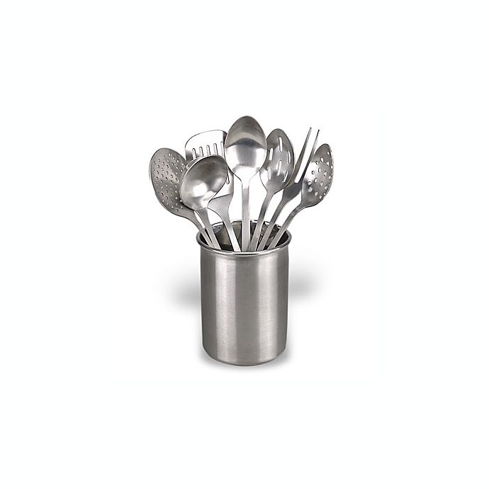 Alternate image 1 for Eight-Piece Stainless Steel Kitchen Utensil Set