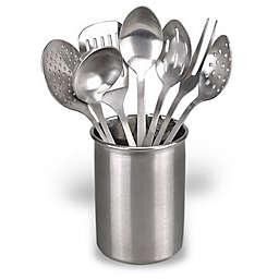 Eight-Piece Stainless Steel Kitchen Utensil Set