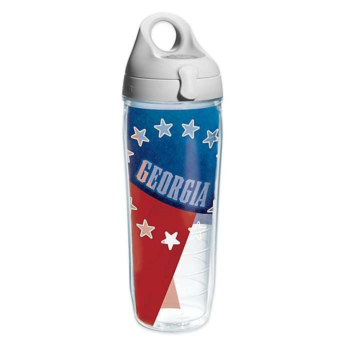 Alternate image 1 for Tervis® Georgia Flag 24 oz. Wrap Water Bottle with Lid