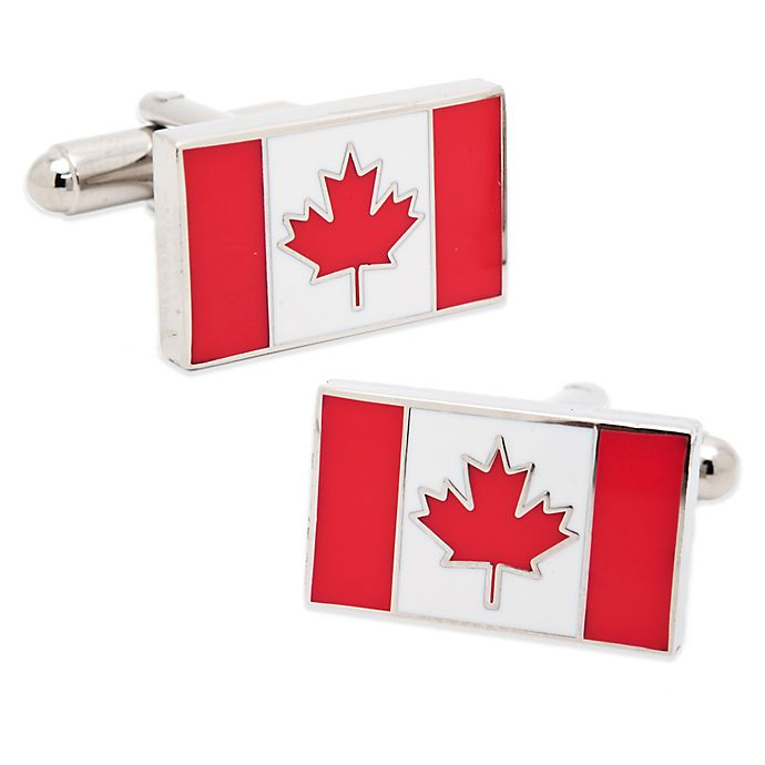 Alternate image 1 for Canadian Flag Cufflinks