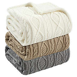 Bee & Willow™ Cable Knit Reversible Throw Blanket