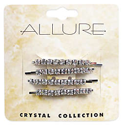 Allure Crystal Collection 4-Pack Rhinestone Bobby Pins