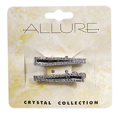 Allure 2-Pack Salon Hair Clips with Crystal