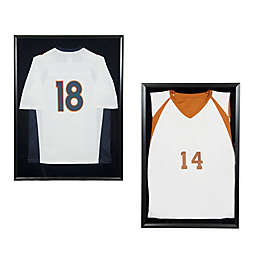 Snap Sports Jersey Display Shadow Box in Black