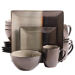 Gibson Kaidence 16-Piece Dinnerware Set in Brown