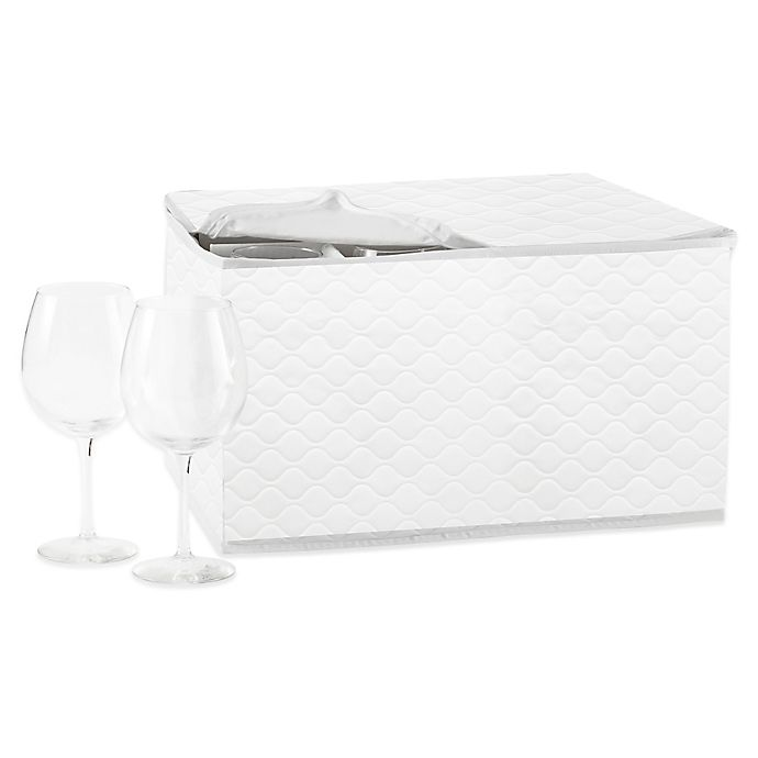 Alternate image 1 for SALT Quilted Stemware Saver in White