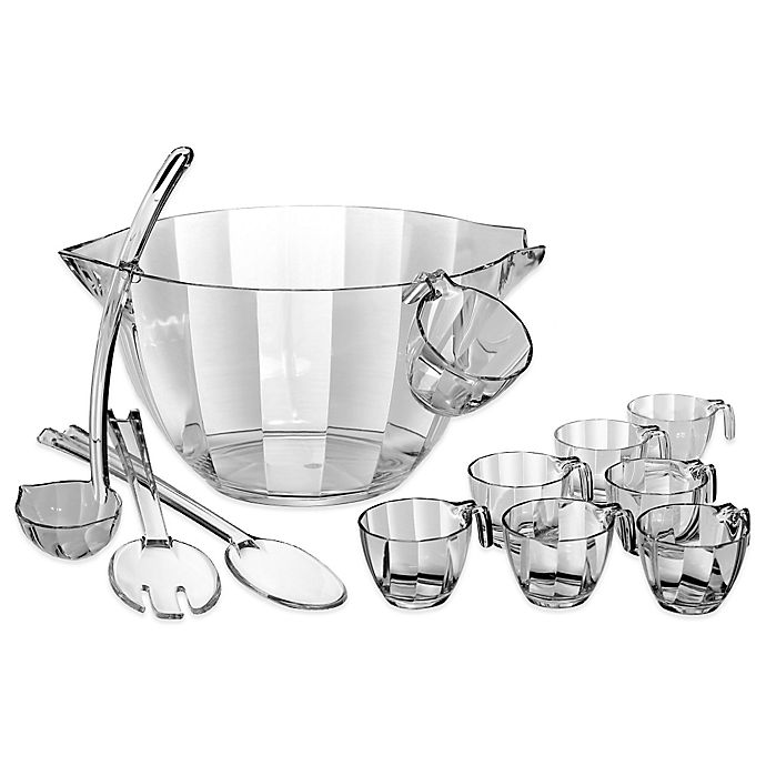 Alternate image 1 for Prodyne Acrylic 12-Piece Punch and Salad Bowl Combo Set