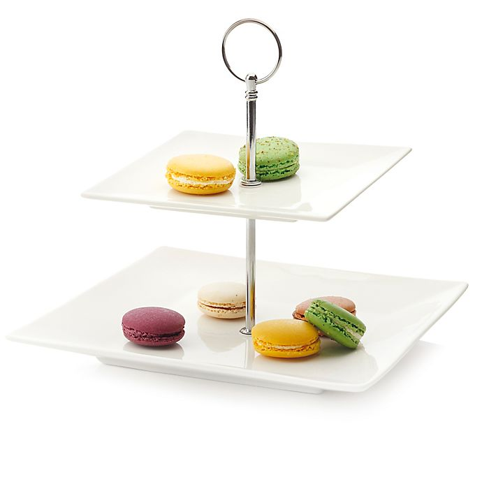 Alternate image 1 for Maxwell & Williams™ White Basics Cosmopolitan 2-Tier Cake Stand
