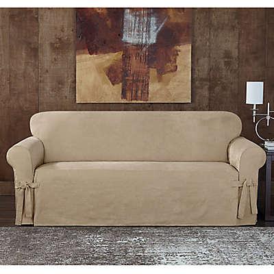 Sure Fit® Designer Sueded Twill Sofa Slipcover