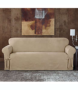 Funda para sofá Sure Fit® Designer, de gamuza asargada en café pardo