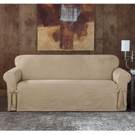 Sure Fit 174 Designer Sueded Twill Furniture Slipcovers Bed
