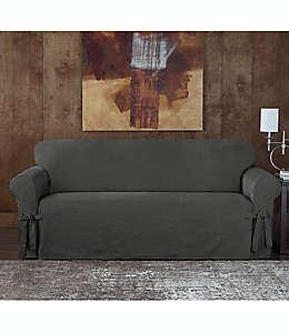 Funda para sofá Sure Fit® Designer, de gamuza asargada en gris
