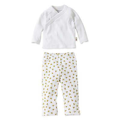 Burt's Bees Baby® 2-Piece Organic Cotton Kimono and Footless Pant Set