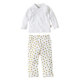 Burt's Bees Baby® 2-Piece Organic Cotton Kimono and Footless Pant Set