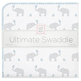 Swaddle Designs® Elephant & Chicks Ultimate Swaddle in Blue