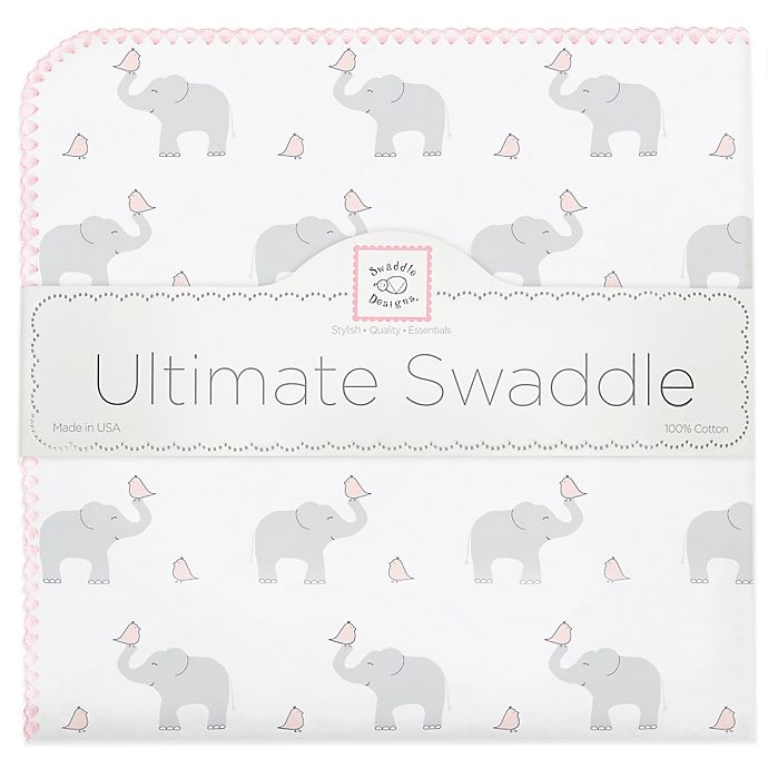 Alternate image 1 for Swaddle Designs® Elephant & Chicks Ultimate Swaddle in Pink