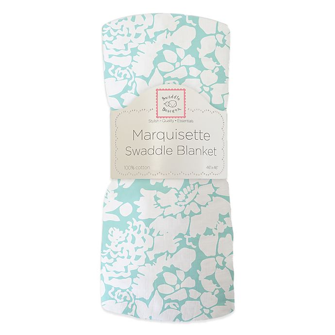 Alternate image 1 for Swaddle Designs® Marquisette Swaddling Blanket in Sea Crystal Lush