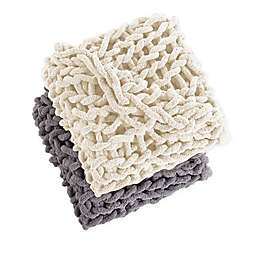 Morgan Home Chunky Knit Chenille Throw Blanket