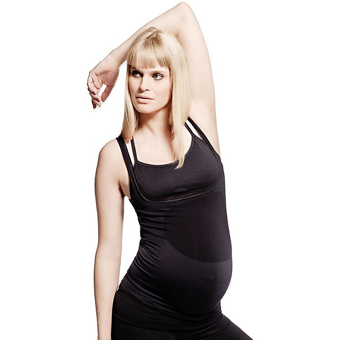 Alternate image 1 for BLANQI® BodyStyler® Maternity Underbust Belly Support Tank in Black